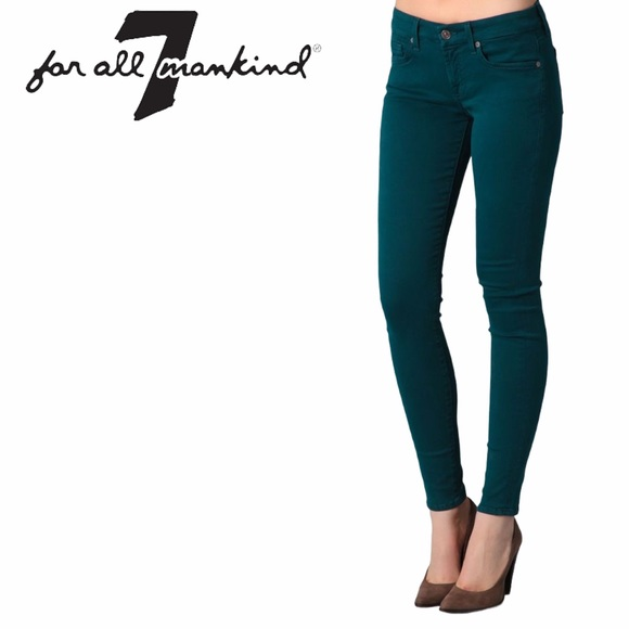 7 for All Mankind Gwenevere Skinny Jeans in Teal